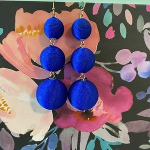Royal blue Bauble Bar Earrings